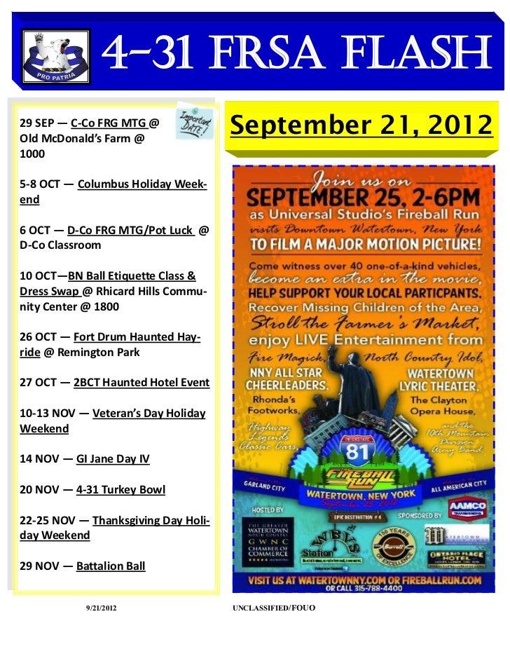 4-31 FRSA Flash    DATES TO REMEMBER29 SEP — C-Co FRG MTG @Old McDonald's Farm @                                     Septe...