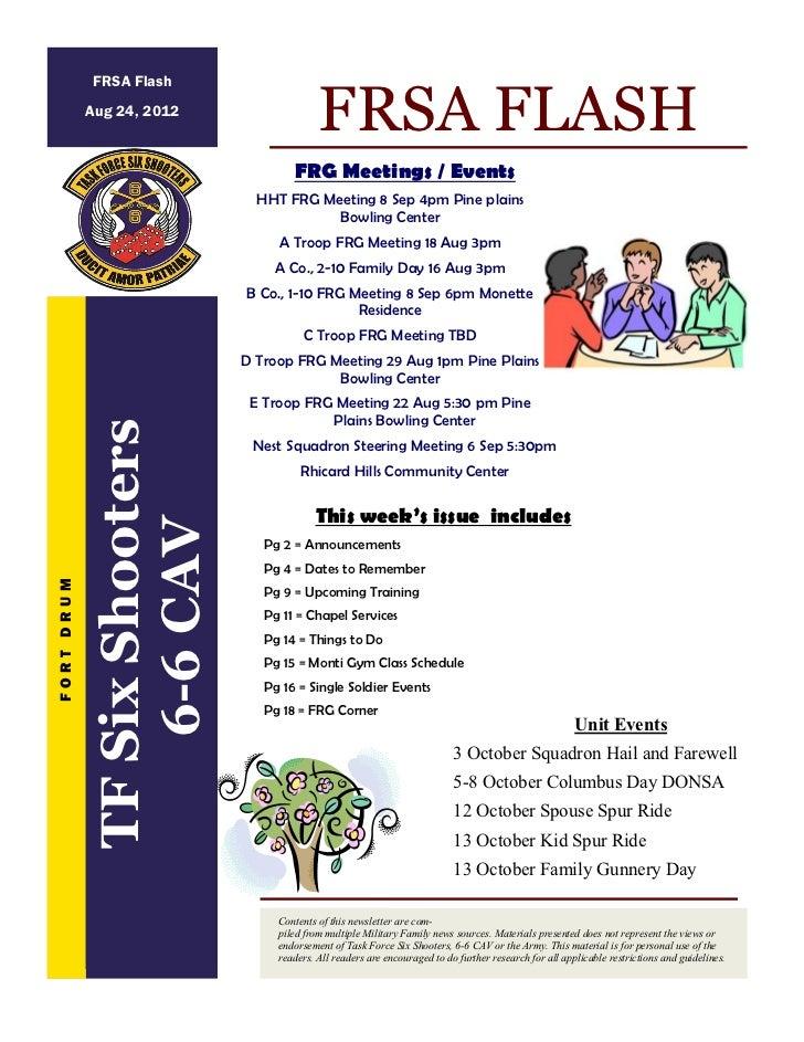 FRSA Flash            Aug 24, 2012                                            FRSA FLASH                                  ...