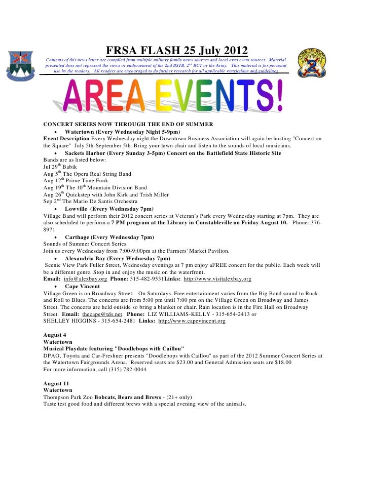 FRSA FLASH 25 July 2012Contents of this news letter are compiled from multiple military family news sources and local area...