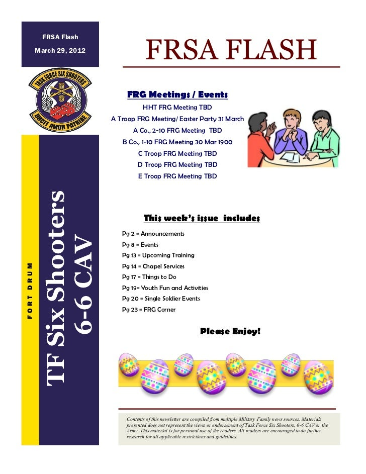 FRSA Flash            March 29, 2012                                           FRSA FLASH                                 ...
