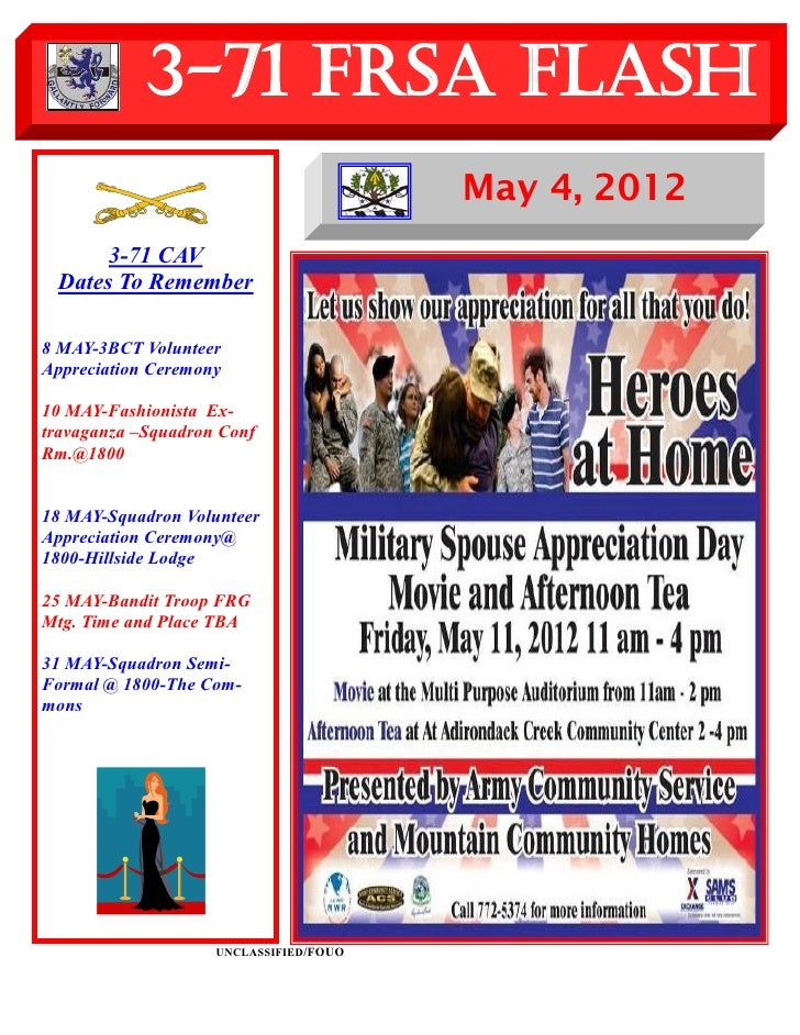 3-71 FRSA Flash                                        May 4, 2012      3-71 CAV Dates To Remember8 MAY-3BCT VolunteerAppr...
