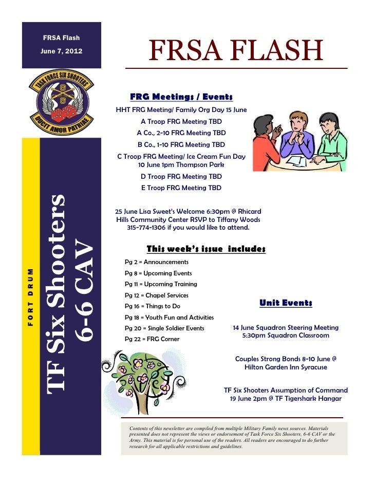 FRSA Flash            June 7, 2012                                          FRSA FLASH                                  FR...