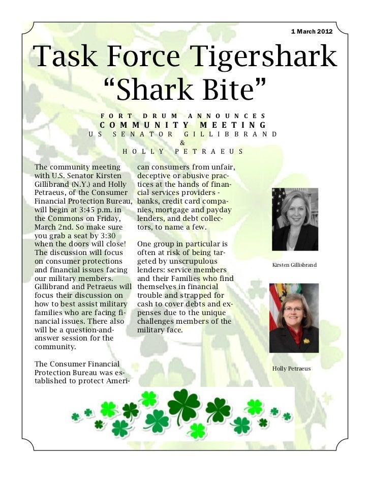 """1 March 2012Task Force Tigershark     """"Shark Bite""""                  F O R T       D R U M      A N N O U N C E S          ..."""