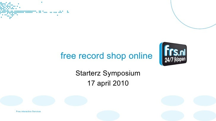 free record shop online Starterz Symposium 17 april 2010