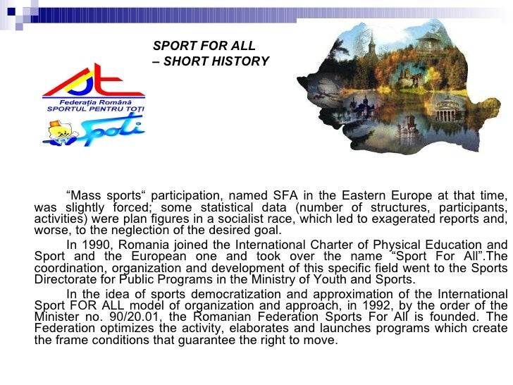 """<ul><li>"""" Mass sports"""" participation, named SFA in the Eastern Europe at that time, was slightly forced; some statistical ..."""