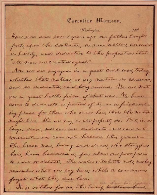Draft of the Gettysburg Address