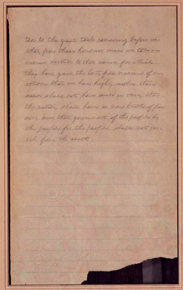Draft of the Gettysburg Address Slide 2