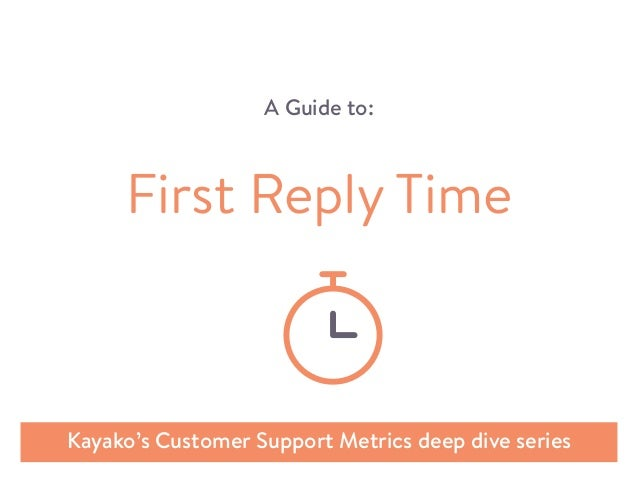 A Guide to: Kayako's Customer Support Metrics deep dive series First Reply Time
