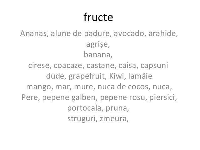 fructe Ananas, alune de padure, avocado, arahide, agrișe, banana, cirese, coacaze, castane, caisa, capsuni dude, grapefrui...