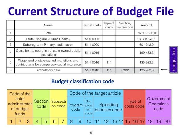 buget format