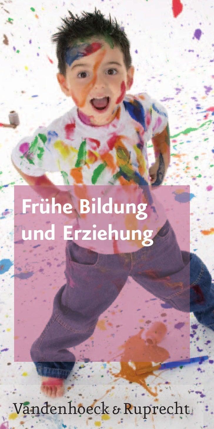 Frühe Bildungund ErziehungVandenhoeck & Ruprecht