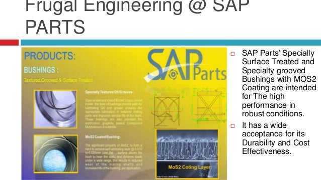 Frugal Engineering @ SAP PARTS  SAP Parts' Seal O Fix is an unique Compound developed, for Duo Cone Seal Assembly, which ...
