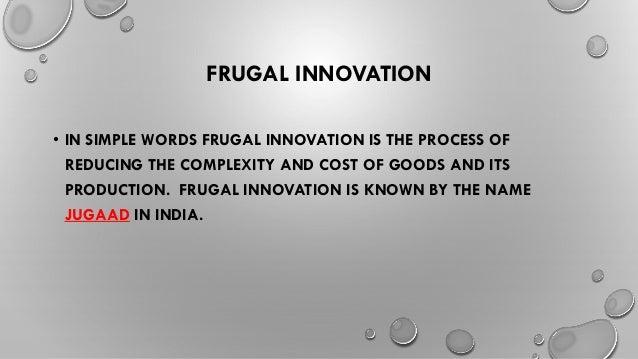 Frugal Innovation/ Jugad Innovation Slide 2