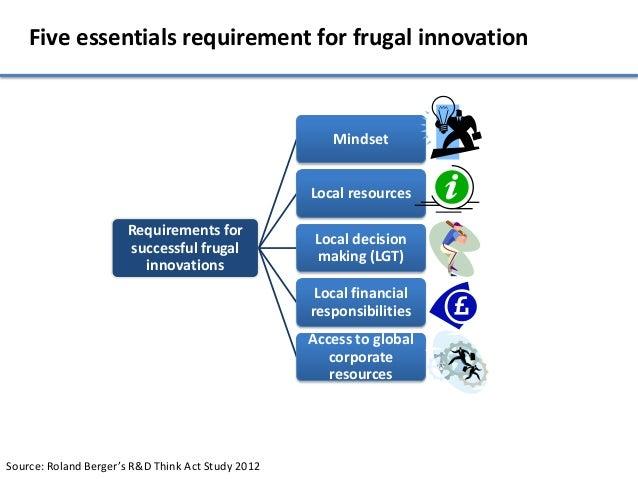Five essentials requirement for frugal innovation                                                      Mindset            ...