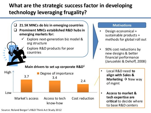 What are the strategic success factor in developing      technology leveraging frugality?          21.5K MNCs do biz in e...
