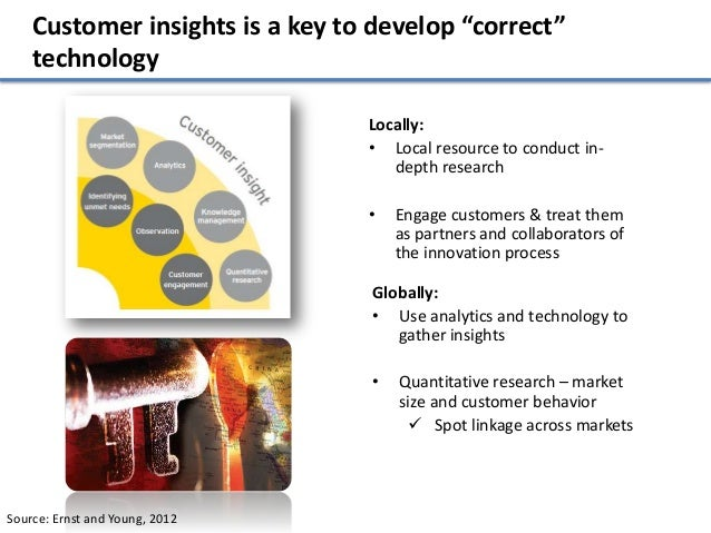 """Customer insights is a key to develop """"correct""""    technology                                 Locally:                    ..."""