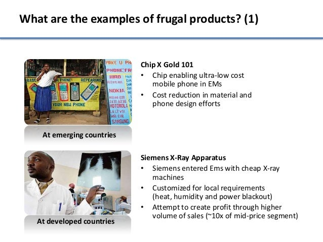 What are the examples of frugal products? (1)                            Chip X Gold 101                            • Chip...