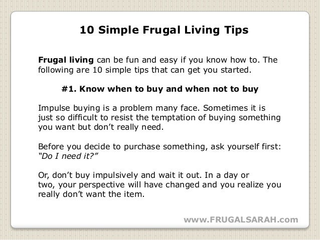 10 simple frugal living tips for Minimalist living checklist