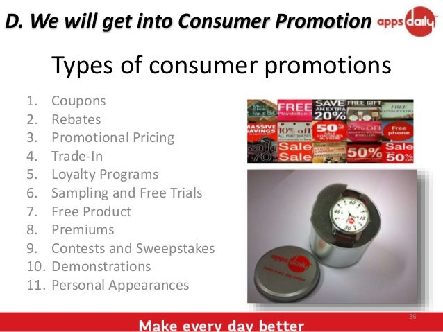 Consumer promotions a case study of