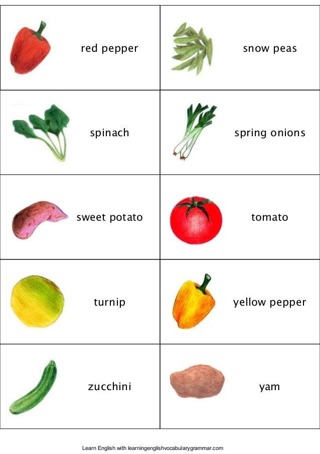 Fruit vegetables berries and-mushroom English vocabulary ...