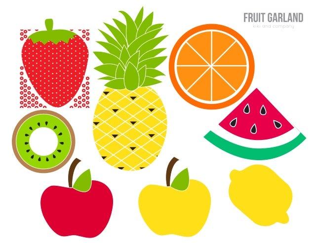 Grilanda De Frutas Para Imprimir