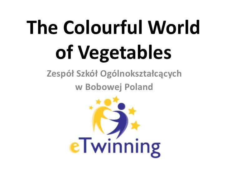 TheColourfulWorld of Vegetables<br />Zespół Szkół Ogólnokształcących <br />w Bobowej Poland<br />