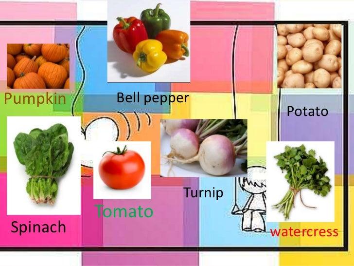Frutas y verduras presentacion de ingl s - Verduras lista de nombres ...