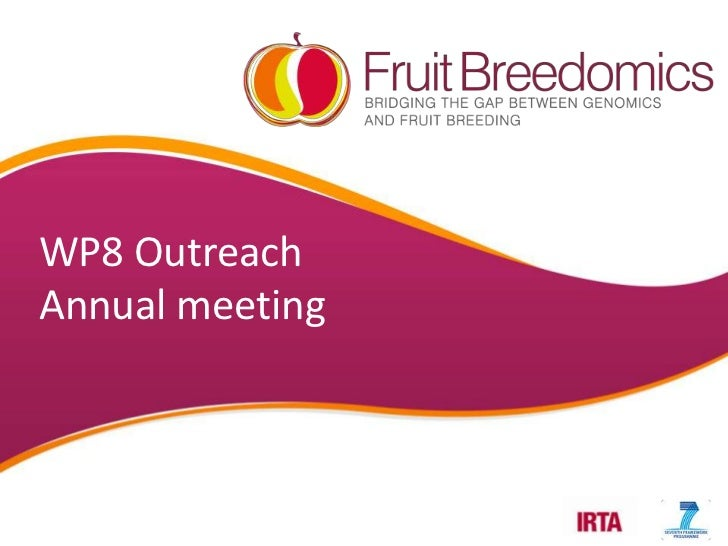 WP8 OutreachAnnual meeting