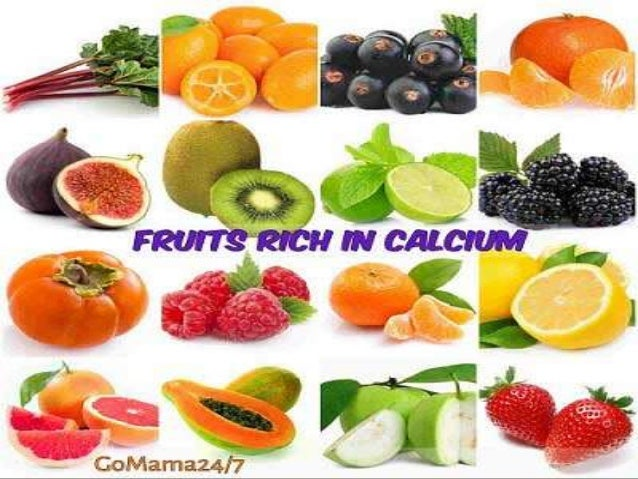 Fruits and vegetables containing calcium a series of presentation on 3 workwithnaturefo