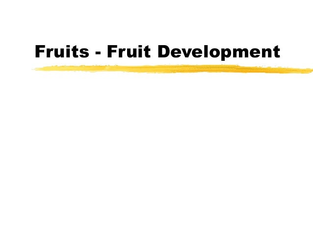 Fruits - Fruit Development