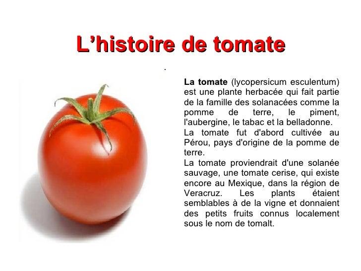 Origines des fruits et l gumes - Tomate est un fruit ...