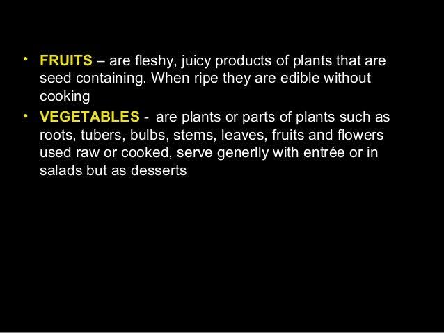 Fruits & vegetables Slide 2