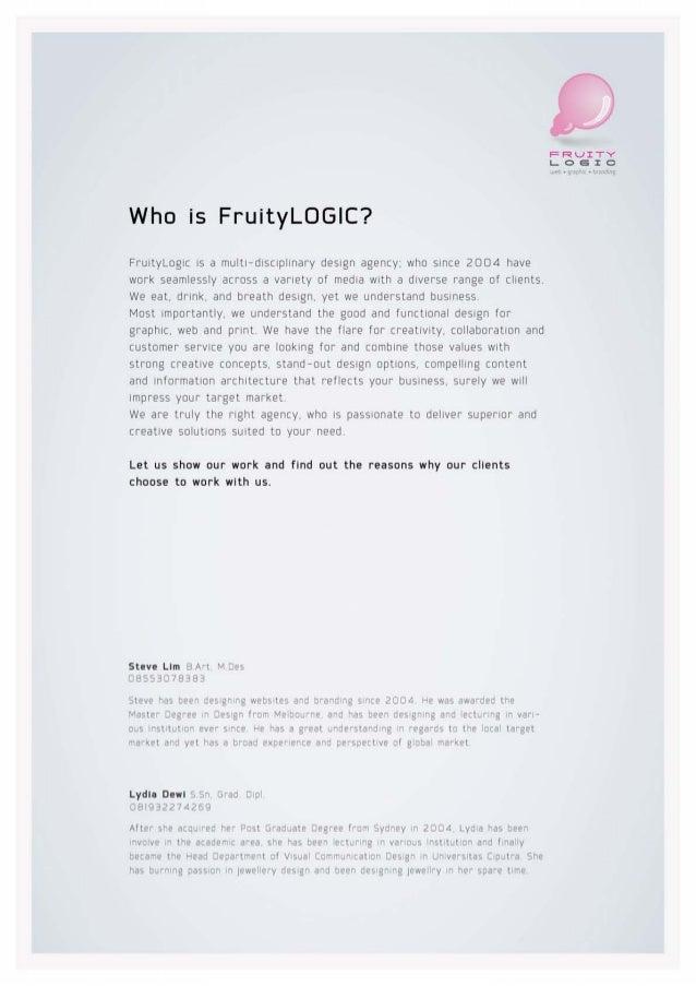 Design Portfolio - FruityLOGIC Design
