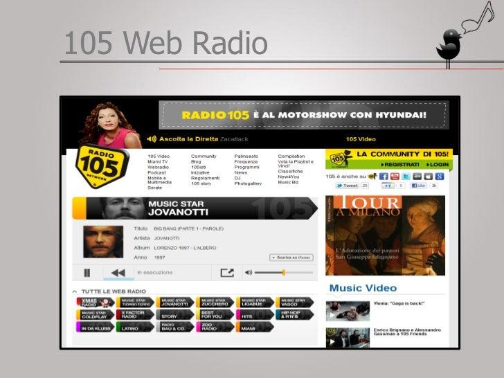 Ascoltare radio 105 online dating 3
