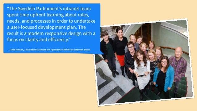 OKT 2011 JAN 2012 2) Involvera Intervjua på plats 4) Design1) Förstå Förstå användarna och internkommunika- tionen – inte...