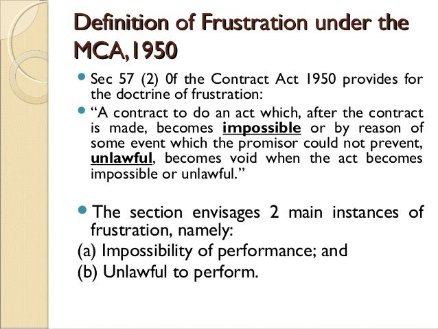 Frustrated Contract