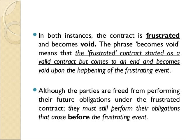 What is a frustrated contract?