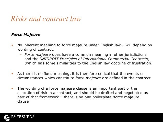 Shine frustration of contracts webinar 20 risks and contract law force majeure pronofoot35fo Image collections