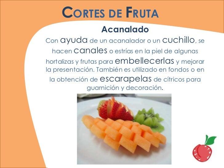 Frutas for Cortes de verduras gastronomia pdf