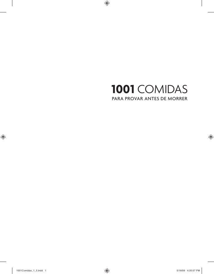 1001 COMIDAS PARA PROVAR ANTES DE MORRER