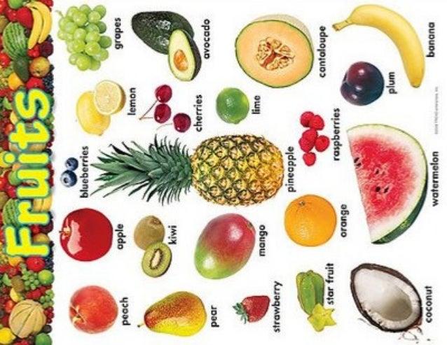 Excepcional Frutas en inglés CB52