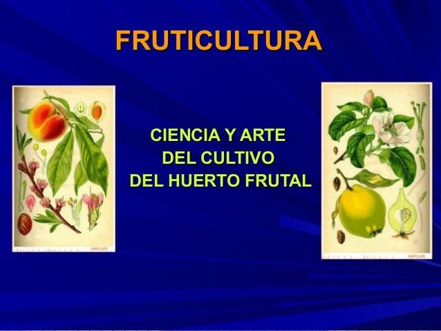 FRUTICULTURA  CIENCIA Y ARTE   DEL CULTIVODEL HUERTO FRUTAL