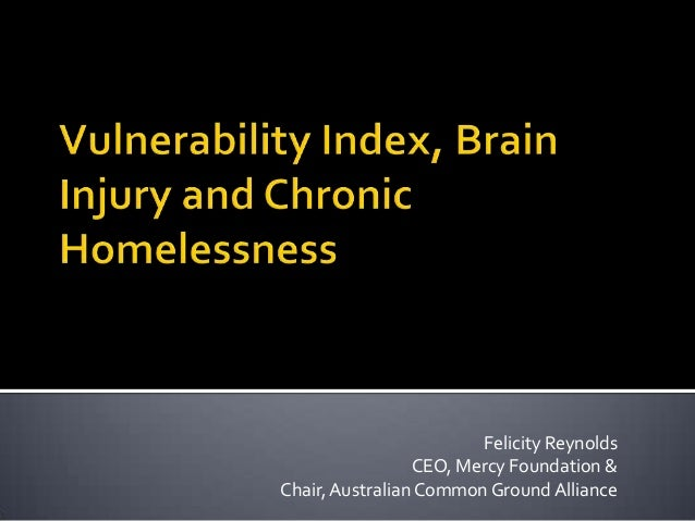 Felicity ReynoldsCEO, Mercy Foundation &Chair,Australian Common Ground Alliance