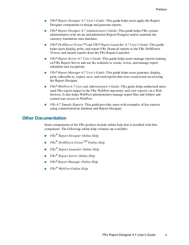 frx report server