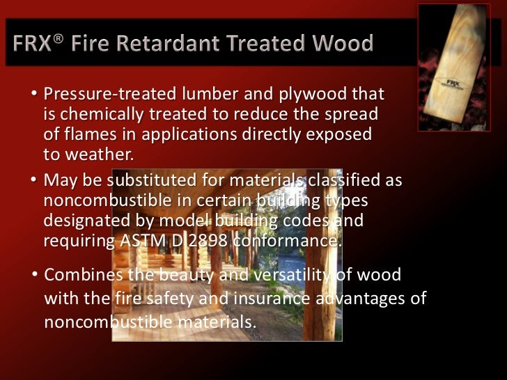 Frx Exterior Fire Retardant Wood