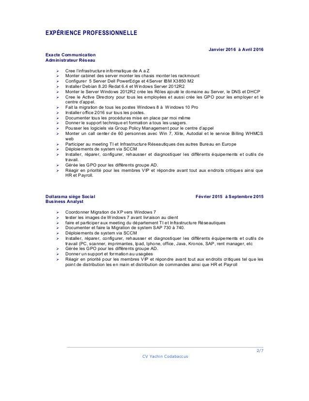 yachin codabaccus cv 2016