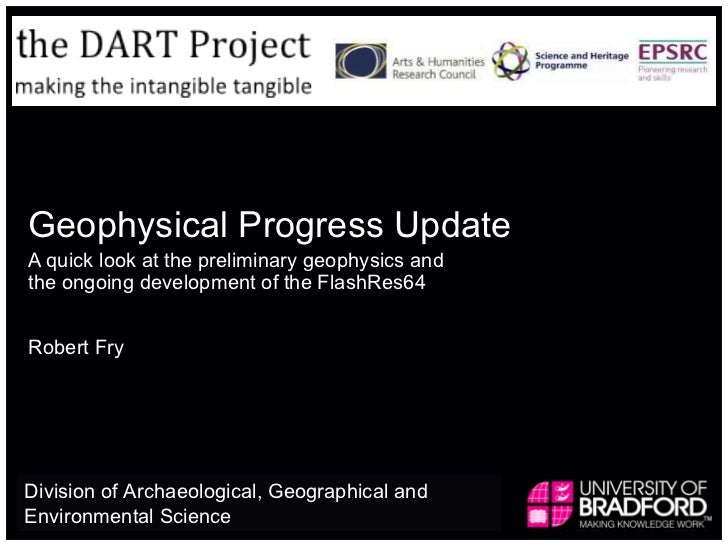 Geophysical Progress Update A quick look at the preliminary geophysics and the ongoing development of the FlashRes64 Rober...