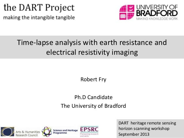 Time-lapse analysis with earth resistance and electrical resistivity imaging Robert Fry Ph.D Candidate The University of B...
