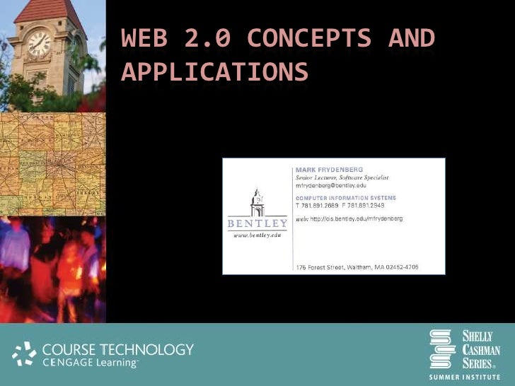 WEB 2.0 CONCEPTS AND APPLICATIONS                 @checkmark