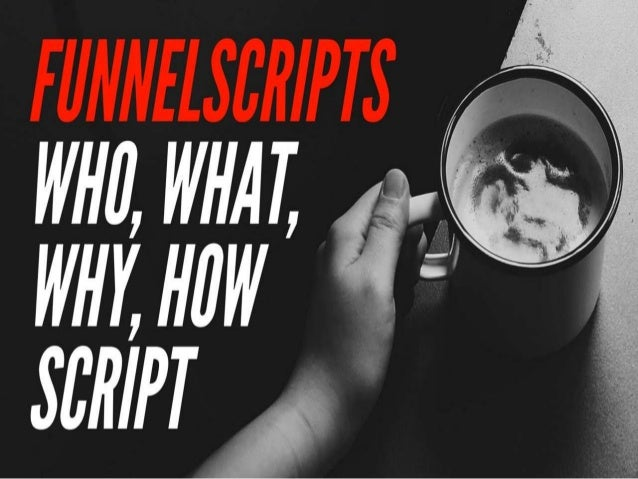 Think about final script is basically it's just a couple three steps… Step 1 - pick out which copy you need...so whether y...